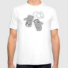 Ampersand Mittens SMALL Mens Fitted Tee White