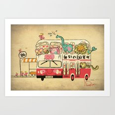 The Childhood Bus Art Print