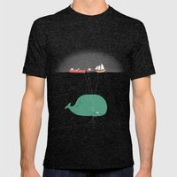 Whale Balloons  Mens Fitted Tee Tri-Black SMALL