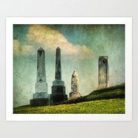 Headstones Art Print