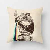 Strange Frog Throw Pillow
