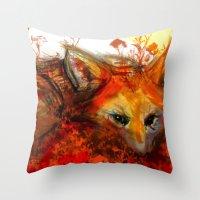 Fox In Sunset III Throw Pillow