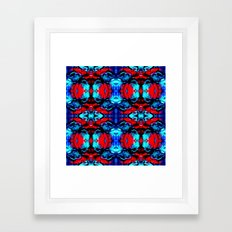 Red Blue Abstract Pattern Framed Art Print