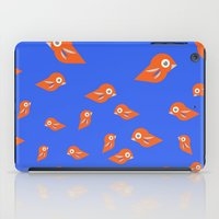 Pretty Orange Birds iPad Case