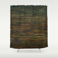 Dark wicker background Shower Curtain