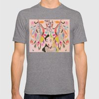 Alice In Wonderland  Mens Fitted Tee Tri-Grey SMALL
