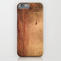 iPhone & iPod Case featuring wood grain 1.0 by Leigh Eldridge