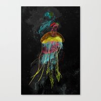 Electric Fins Canvas Print