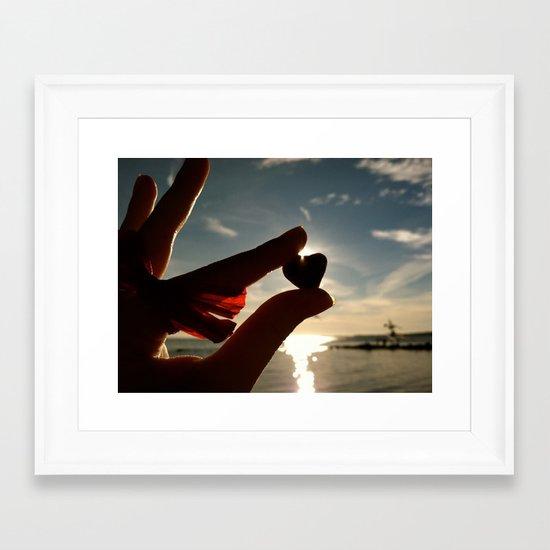 A Heart for the Sun Framed Art Print