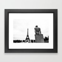 A Thought Framed Art Print