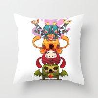 Monster´s Totem Throw Pillow