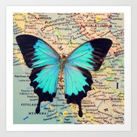 Flying home! Art Print