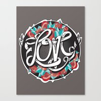 Love -Ribbon-Word Canvas Print