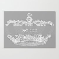 Jubilee Crown {soft grey} Canvas Print