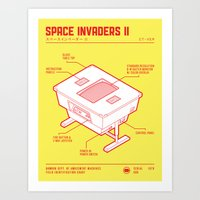 ARCADE CAB - SPACE INVAD… Art Print