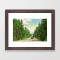 NEVER STOP EXPLORING IV Framed Art Print