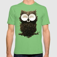 Hoot! Night Owl! Mens Fitted Tee Grass SMALL