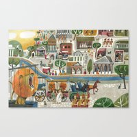 lions in rome Canvas Print