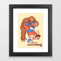 Gorilla Clutch Framed Art Print