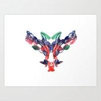 rorschach beasty 01 Art Print