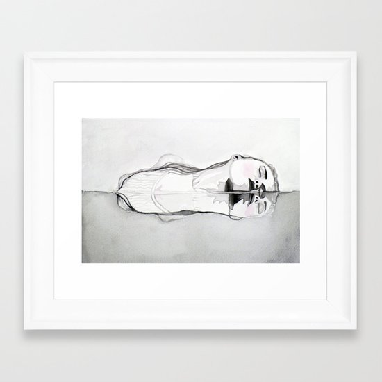A Brief Lesson in the Art of Drowning Framed Art Print