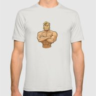 Sabretooth Mens Fitted Tee Silver SMALL