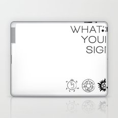 What's your sign? Supernatural edition Laptop & iPad Skin