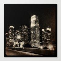 LA at night. Canvas Print