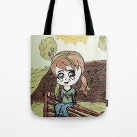 Garden Fence {Carrots & Tofu} Tote Bag