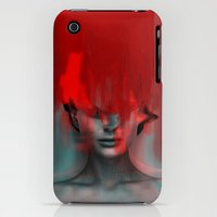 iPhone 3Gs & iPhone 3G Cases featuring Red Head Woman by Marko Köppe