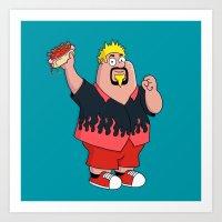 Family Guyfieri Art Print