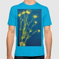 Photogram - Love in the Mist II Mens Fitted Tee Teal SMALL