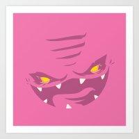 Krang! - Pink Squishy Ed… Art Print