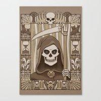COWER BRIEF MORTALS Canvas Print