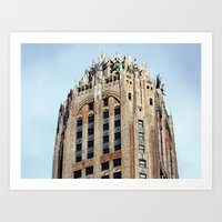 Looking Up On The Street… Art Print