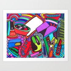 Eclectic Eaze Art Print