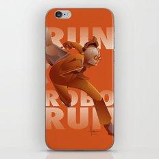 RUN ROBO RUN iPhone & iPod Skin
