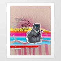 80s Bear Art Print
