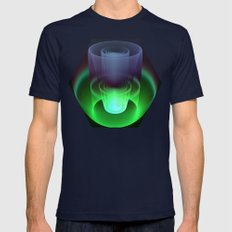 Magic in 3D Mens Fitted Tee Navy SMALL