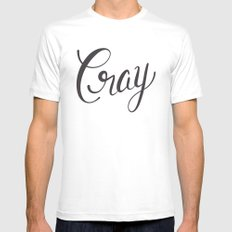 Cray SMALL White Mens Fitted Tee