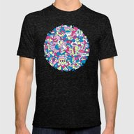 Funble Mens Fitted Tee Tri-Black SMALL