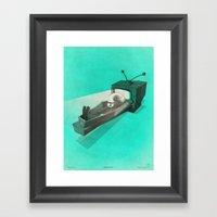 What's on TV? Framed Art Print