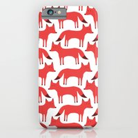 Fox Pattern iPhone 6 Slim Case