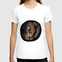 Link and the Imp Womens Fitted Tee White SMALL