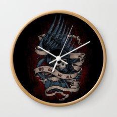 So Say We All Wall Clock