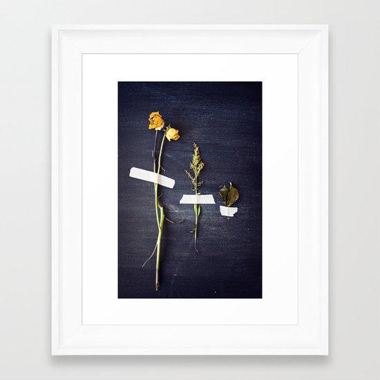 bouquet dissected Framed Art Print