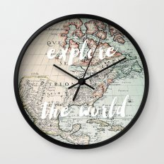 Explore The World Wall Clock