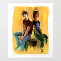 Jordan Kyle & Maia Roberts  Art Print