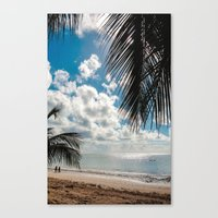 Couple At The Beach Canvas Print