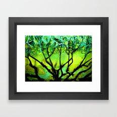 Glass Tree Framed Art Print